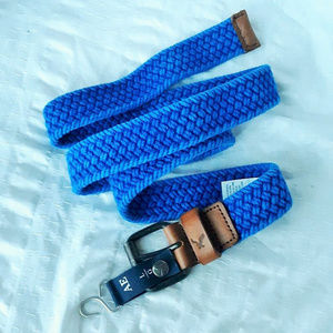 "American Eagle Blue L Belt 0-42"" nwt Braided"